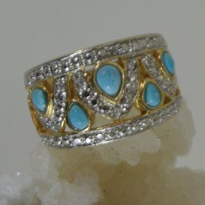 Vintage Sleeping Beauty Turquoise Sterling Silver